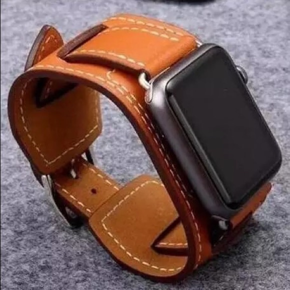 Other - 🔥Dad sale BLACK Leather Apple Watch wrist